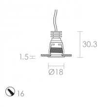 Dart Spring release clip technical drawing