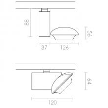 Lido Mini LED technical drawing
