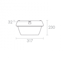 Zone Pack LED technical drawing
