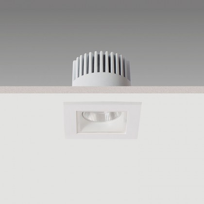 Neptune Mini Q LED - Recessed downlighter with a square bezel
